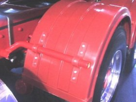 Red Mudguard Bracket - Click to Enlarge